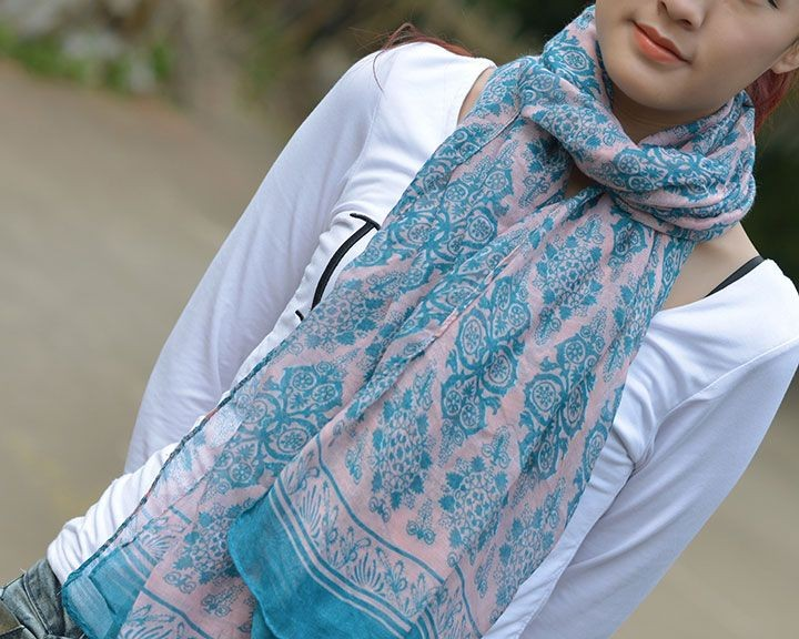 Floral Voile Scarf-7385