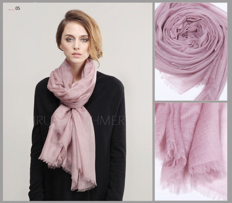 Inner Mongolia Super Soft 300NM 100%Pure cashmere women Scarf-C11018Y-1