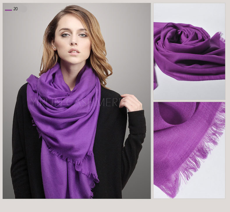 Fine thin 100%Pure wool Scarf-SWW705-1