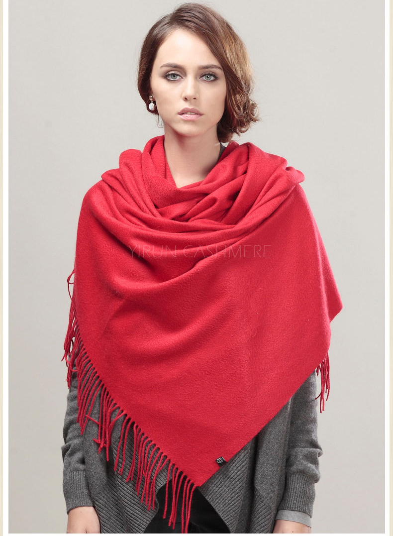 Fashion thickening 100%Pure wool Scarf-SWW813-1