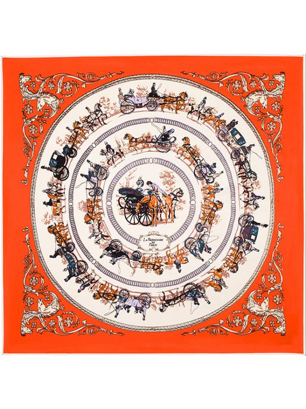 Luxurious God Horse-0302 Twill Silk & Polyester Scarf Kerchief