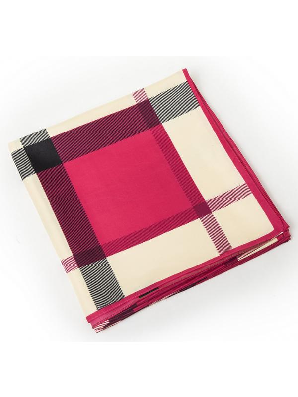 Lattice-0293 Twill Silk & Polyester 130*130 Scarf Kerchief