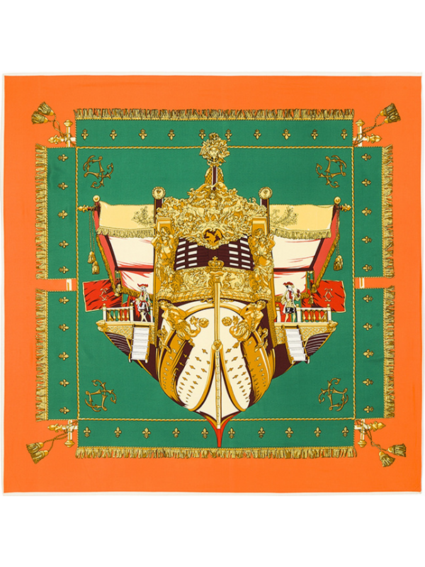 France Royal Court-0273 Twill Silk & Polyester Scarf Kerchief