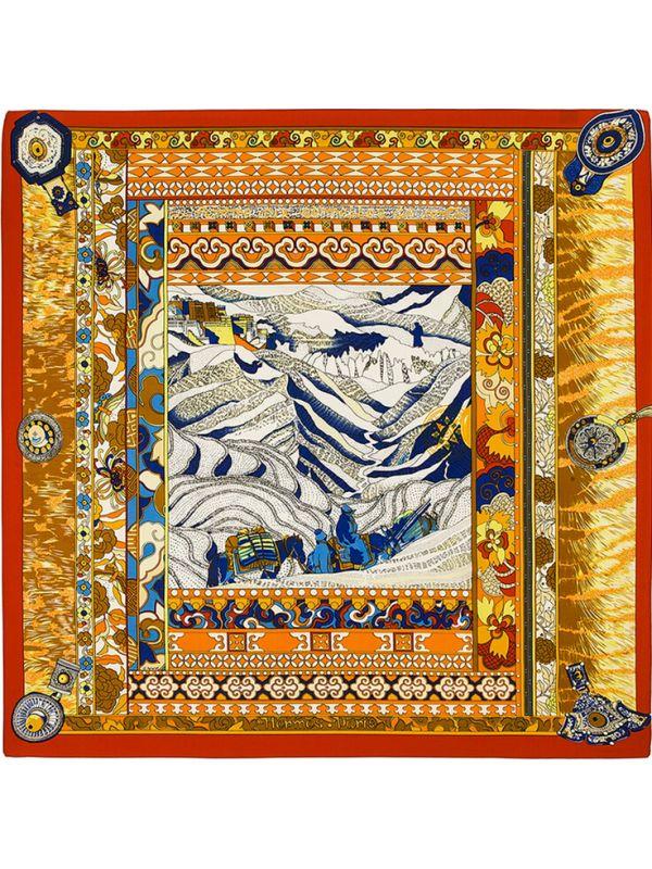 Classic Potala Palace-0234 Silk & Polyester Scarf Kerchief