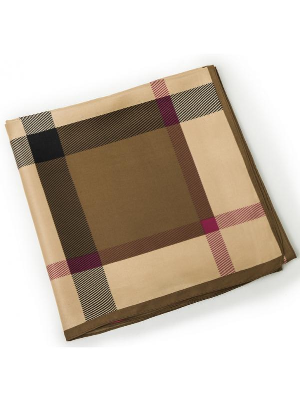 Lattice-0294 Twill Silk & Polyester 130*130 Scarf Kerchief
