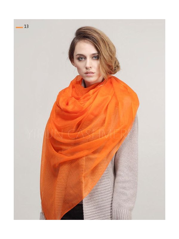 Inner Mongolia Super Soft 300NM 100%Pure cashmere women Scarf-C11018Y-13