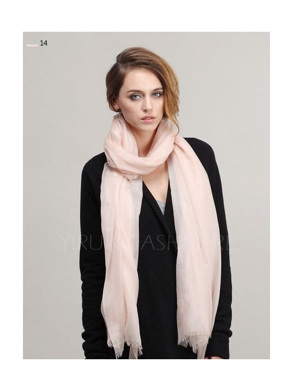 Inner Mongolia Super Soft 300NM 100%Pure cashmere women Scarf-C11018Y-14