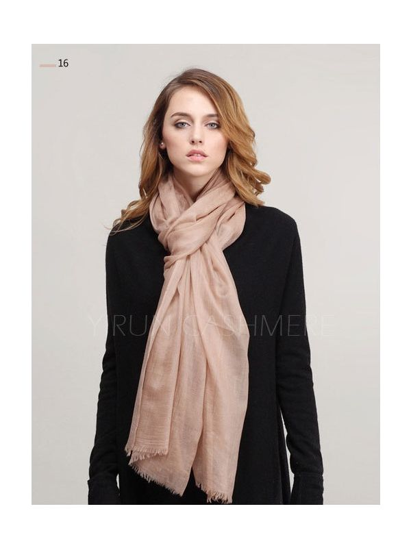 Inner Mongolia Super Soft 300NM 100%Pure cashmere women Scarf-C11018Y-16