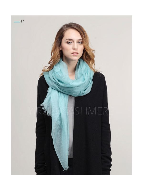 Inner Mongolia Super Soft 300NM 100%Pure cashmere women Scarf-C11018Y-17