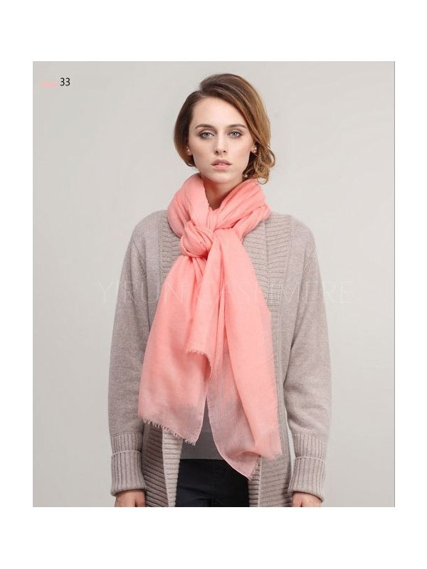 Inner Mongolia Super Soft 300NM 100%Pure cashmere women Scarf-C11018Y-33