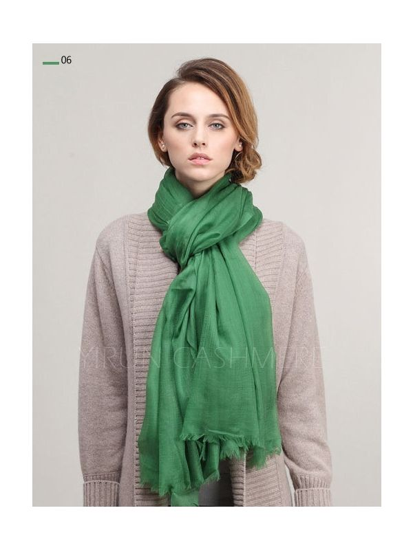 Inner Mongolia Super Soft 300NM 100%Pure cashmere women Scarf-C11018Y-6