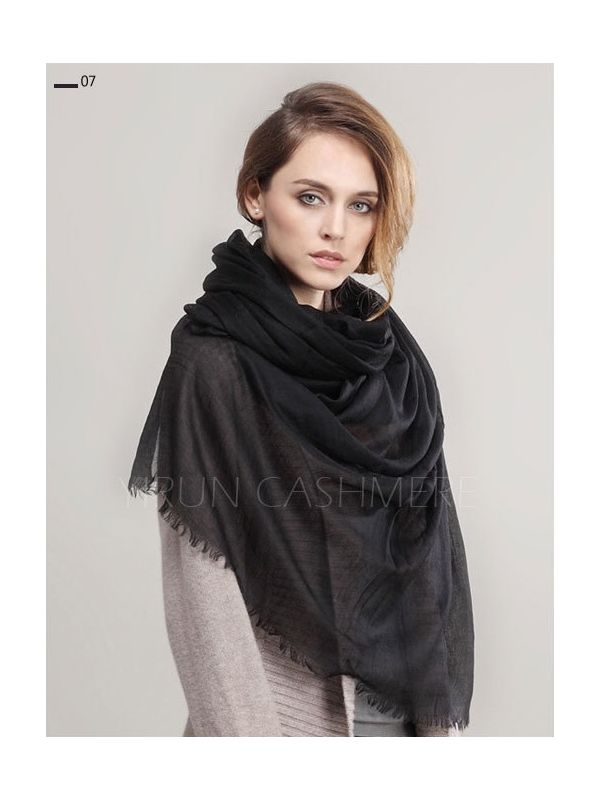 Inner Mongolia Super Soft 300NM 100%Pure cashmere women Scarf-C11018Y-7