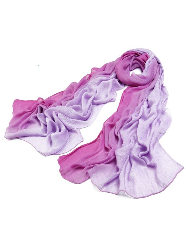 Gradually Changing Color 100% Bamboo Fiber Scarf Shawl JS09