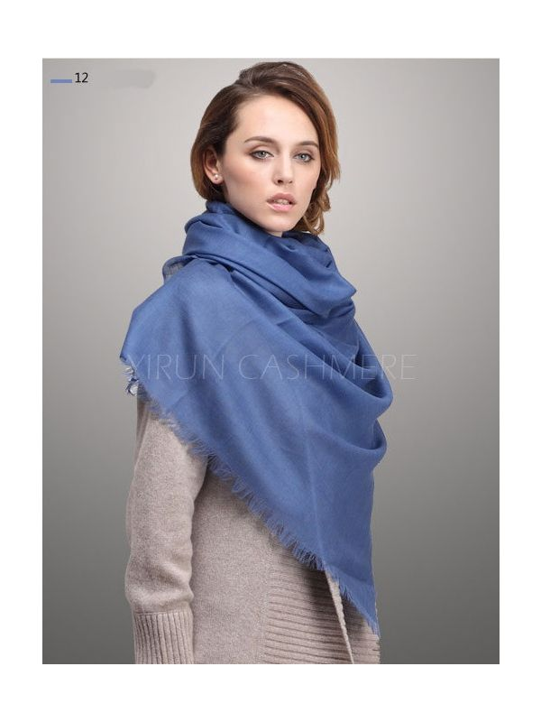 Fine thin 100%Pure wool Scarf-SWW705-12