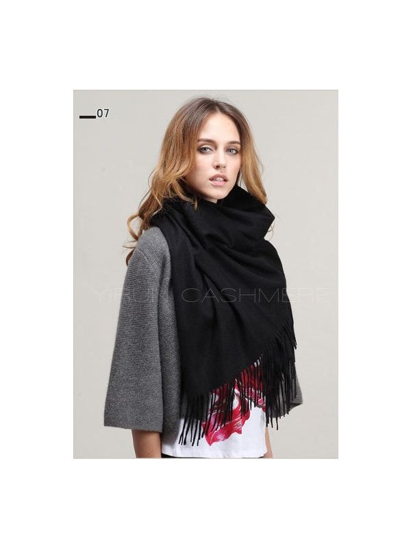 Fashion thickening 100%Pure wool Scarf-SWW813-7